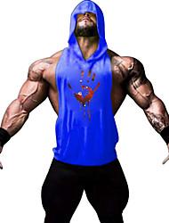 Men's Sleeveless Running Vest/Gilet Hoodie Shirt Sweatshirt Tank TopsBreathable Quick Dry Comfortable Static-free Lightweight Materials
