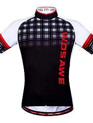 Wosawe® Cycling Jersey Unisex Short Sleeve Bike Quick Dry / Reflective Strips / Back Pocket / Limits Bacteria / Sweat-wicking Tops