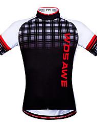 WOSAWE Maillot de Cyclisme Unisexe Manches courtes Vélo Hauts/TopsSéchage rapide Limite les Bactéries Anti-transpiration Bandes