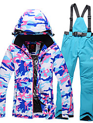 Ski Wear Ski/Snowboard Jackets Clothing Suits Women's Winter Wear Polyester Camouflage Winter Clothing Waterproof Thermal / Warm