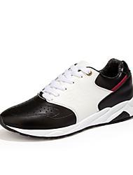 Damen-Sneaker-Lässig-PU-Flacher Absatz-Komfort-Schwarz / Blau / Rot