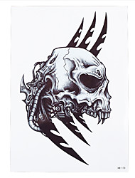 1pc Fake Water Transfer Spray Tattoo Sticker Body Art Temporary Skull Sickle Pattern Women Men Decal Tattoo HB-170