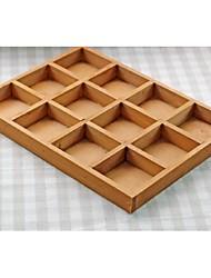 1pç Artesanato de madeira,Marrom