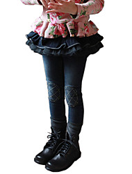 Girl's Cotton Spring/Autumn Fashion Lace Bubble Pantskirt Children Skinny Jeans