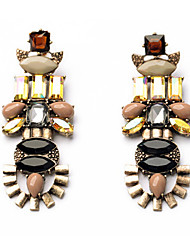 Drop Earrings Gemstone Fabric Fashion Luxury Jewelry Geometric Rainbow Jewelry Daily Casual 1 pair