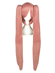 Cosplay Wigs Vocaloid Luca Pink Long / Straight Anime Cosplay Wigs 100 CM Heat Resistant Fiber Male / Female