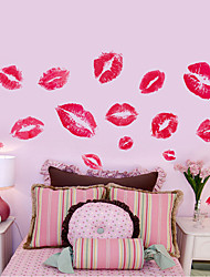 DIY Personality Charm Red Lips Print Wall Stickers Removable PVC Living Room Bedroom Wall Decals