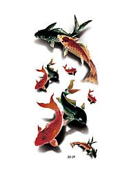 1 Временные тату Тату с животными Non Toxic / С рисунком / Waterproof / 3-DЖенский / Взрослый Вспышка татуировки Временные татуировки