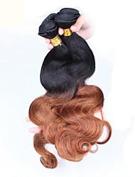"""3pcs / lot 10 """"-24"""" obearbetat malaysianen jungfru hår två tonar 1b / 30 ombre vågigt människohår väva"""