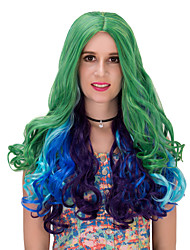 Grass green gradient long wig.WIG LOLITA, Halloween Wig, color wig, fashion wig, natural wig, COSPLAY wig.