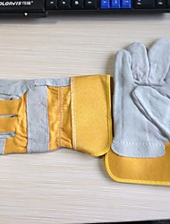 Full Palm Welding Split Leather  Gloves Special Wear-Resistant Anti-Low Temperature Work Gloves Leather Gloves