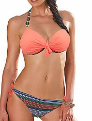 Womens Hottie Halter Padded Cup Triangle Bikini Set