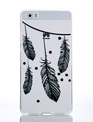 TPU Material Black Feather Pattern Cellphone Case for Huawei P9Lite/P9/P8Lite