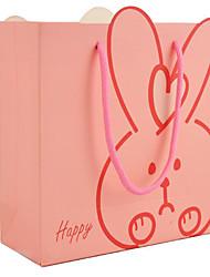 venta directa de fábrica de bolsas de regalo de cumpleaños conejo rosa favorecen bolsas de juguetes para bebés, bolsas de regalo bolsas de