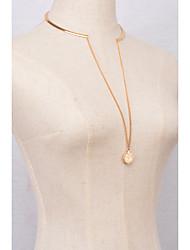 Women Alloy  Gold Golden Fashionable Chain Necklaces