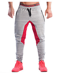 Pantalon de Sport Pour des hommes Couleur Pleine Décontracté / Sport Coton Gris
