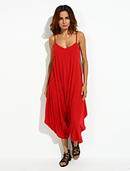 Women's Vintage Sexy Beach Casual Cute Sleeveless  Jumpsuits,Cotton Blends