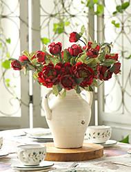 1 Une succursale Polyester Plastique Camélia Fleur de Table Fleurs artificielles 50(19.68'')