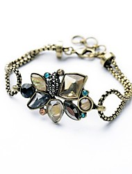 Bohemian Rhinestone Chain Bracelets Golden Geometric Gem Bracelet Fashionable Geometric Alloy Jewellery