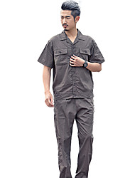 Cotton Work Clothes for Men and Women Suit Short Production Plant Overalls (Dark Gray Short-Sleeved Sale, Sale XL)