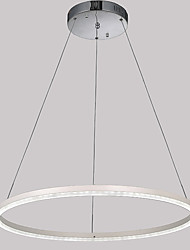Fashion LED Acrylic Pendant Lighting Ceiling Chandeliers Light for Hotel Bar with Round Ring 24W CE FCC ROHS