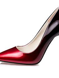 Damen-High Heels-Büro-PU-Stöckelabsatz-Absätze-Schwarz / Silber / Burgund / Fuchsie