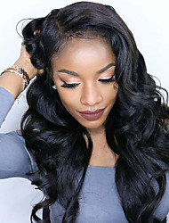 Body Wave Lace Front Wigs For Black Women Brazilian Virgin Human Hair U-Part Lace Front Wigs
