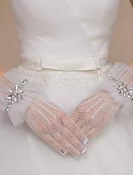 Handgelenk-Länge Fingerspitzen Fischnetz Handschuh Spitze Tüll Polyester Brauthandschuhe Party / AbendhandschuheFrühling Sommer Herbst
