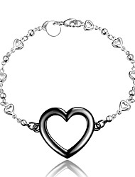 2016 New Heart Noble Silver Black Party Luxury Specially Bracelets For Women