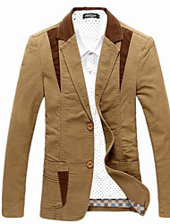 Men's Solid Casual Blazer,Rayon Long Sleeve Multi-color