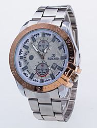 Men's Steel Table With Three Six-Pin Single Calendar Quartz Watch Double Literal Switzerland