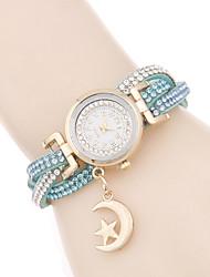 Damen Modeuhr Armband-Uhr Quartz / PU Band Bequem Elegante Schwarz Weiß Rot Rosa Bronze Marke