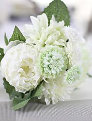 1 Une succursale Polyester Plastique Roses Fleur de Table Fleurs artificielles 9*9