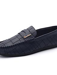 Femme-Décontracté-Noir / Bleu / Orange-Talon Plat-Confort-Ballerines-Polyuréthane