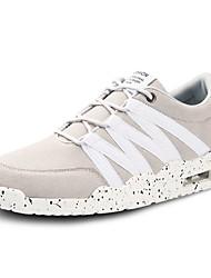 Herren-Sneaker-Lässig-Stoff-Flacher Absatz-Komfort-Schwarz / Blau / Grau