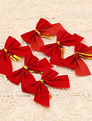 12pcs Red Bowknot Style Merry Christmas Tree Decoration Xmas Wreath Ornament Home Outdoor Supplies