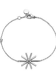 Women Fashion Simple Wild Sunflowers Snowflake Bracelet