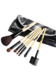 (Attached brush bags) 7 Makeup brush set