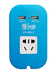 Portable Color USB Power Outlet Socket Smart Charging Dock Charger(Random Colors)