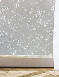 estilo de etiquetas de la ventana película de la ventana película del copo de nieve ventana de PVC mate - (100 x 45) cm