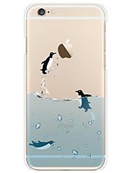iphone 7 mais pingüim padrão TPU caso macio fino para iPhone 6 / 6s