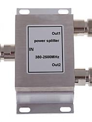 fêmea divisor de potência 380-2500mhz divisor para o telefone móvel impulsionador repetidor de sinal 2-way n