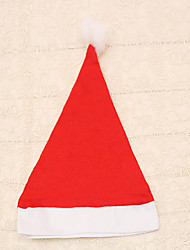 1pc Ordinary Red Adult Christmas Hat Santa Claus Unisex Cap for Carnival Party Dress