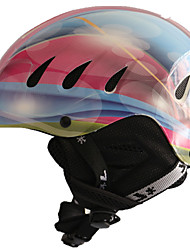 Универсальные шлем Л: 58-61CM Спортивные Ультралегкий (UL) Фиксированный 14 CE EN 1077 Снежные виды спорта / Лыжи Розовый / Синий