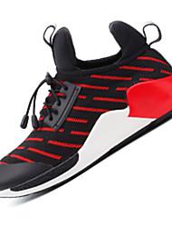 Damen-Sneaker-Sportlich-Tüll PU-Flacher AbsatzBlau Rot Weiß