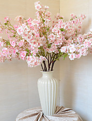 1 1 Ast Polyester / Kunststoff Sakura Tisch-Blumen Künstliche Blumen 31.4inch/80cm