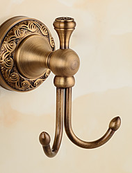 Antique Bathroom Accessories Brass Material Robe Hook