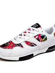 Da uomo-Sneakers-Casual-Comoda-Piatto-Tulle-Nero Blu Bianco