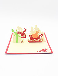 Paper Craft 3D Pop-up Greeting Card For Chirstmas