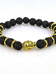 Bead Charm Barcelet Bangles Nature Stone Energy Volcano  Yoga Jewelry Black Lava Gem Strand Bracelets Buddha  for Men /Women 1 pc